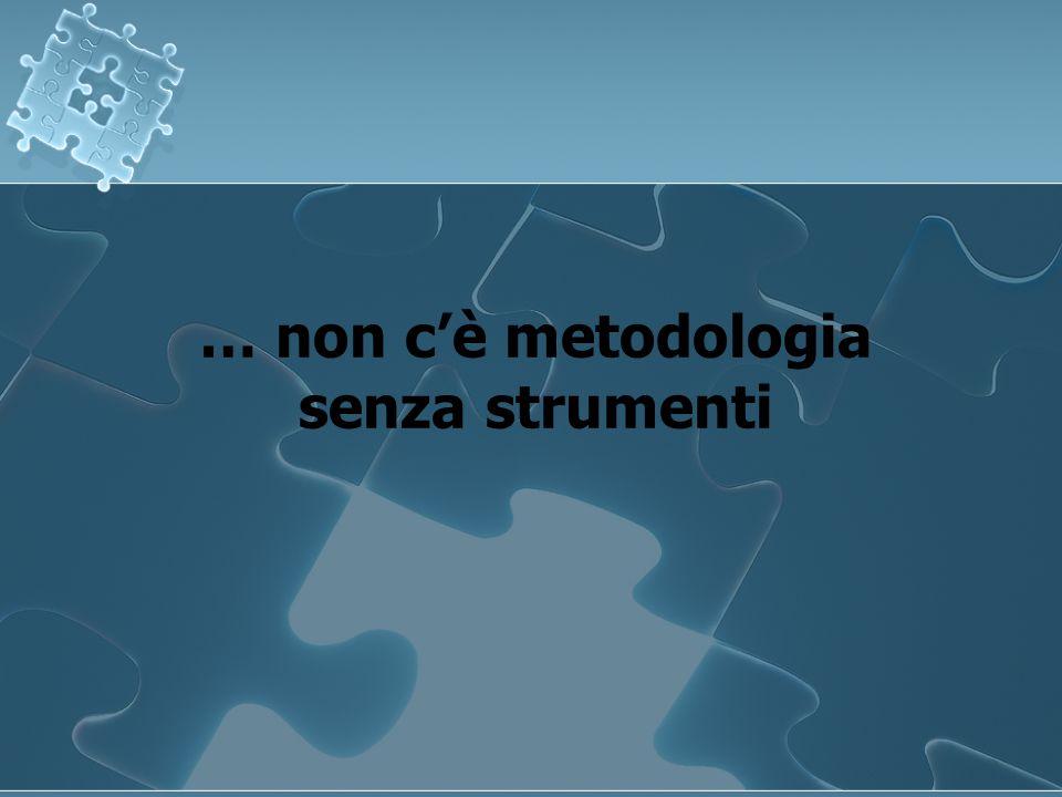 … non c'è metodologia senza strumenti