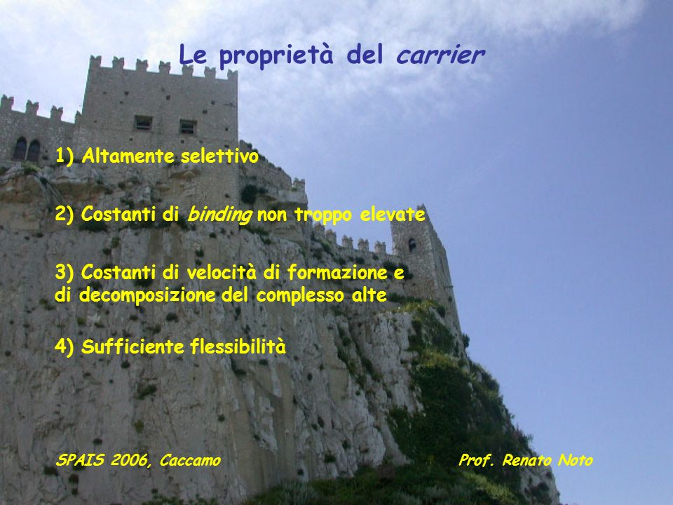 Le proprietà del carrier