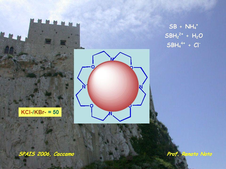 KCl-/KBr- = 50 SPAIS 2006, Caccamo Prof. Renato Noto