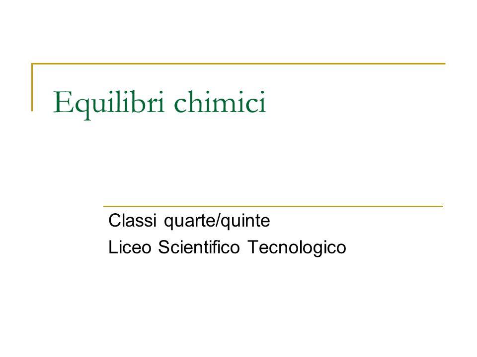 Classi quarte/quinte Liceo Scientifico Tecnologico