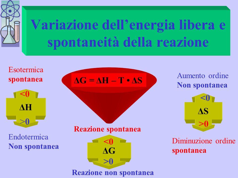 Variazione dell'energia libera e spontaneità della reazione