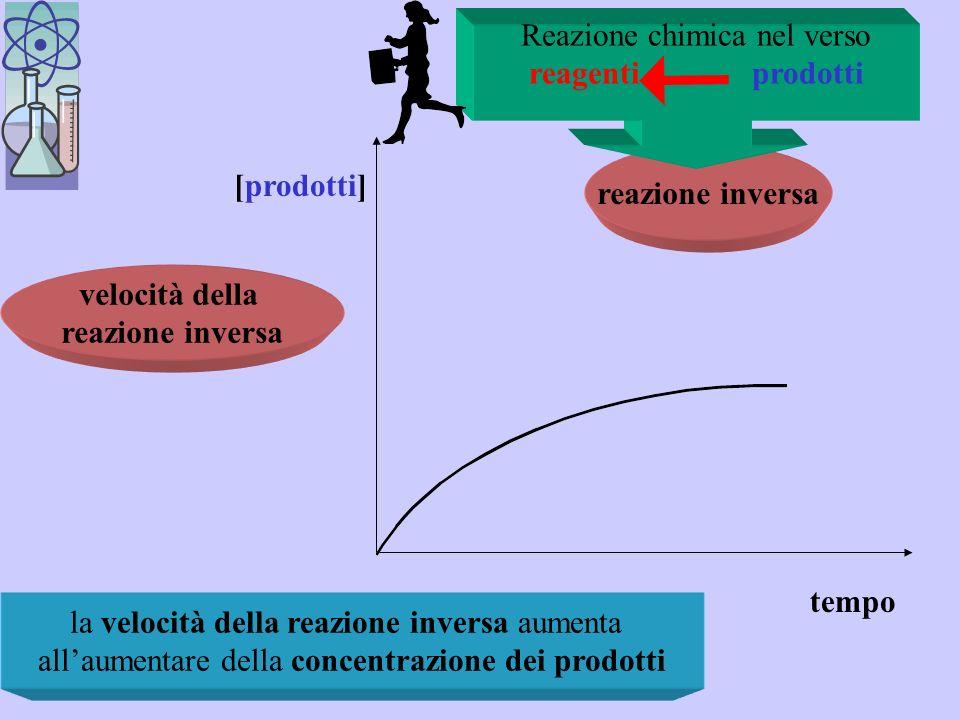 reagenti prodotti reazione inversa velocità della reazione inversa