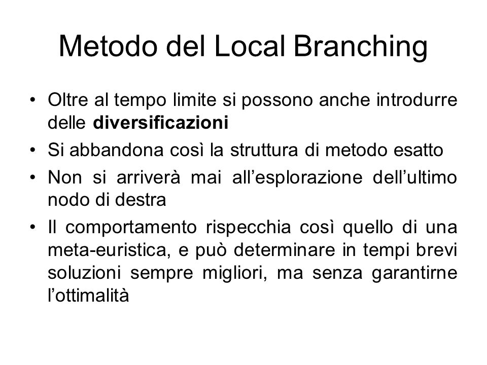 Metodo del Local Branching