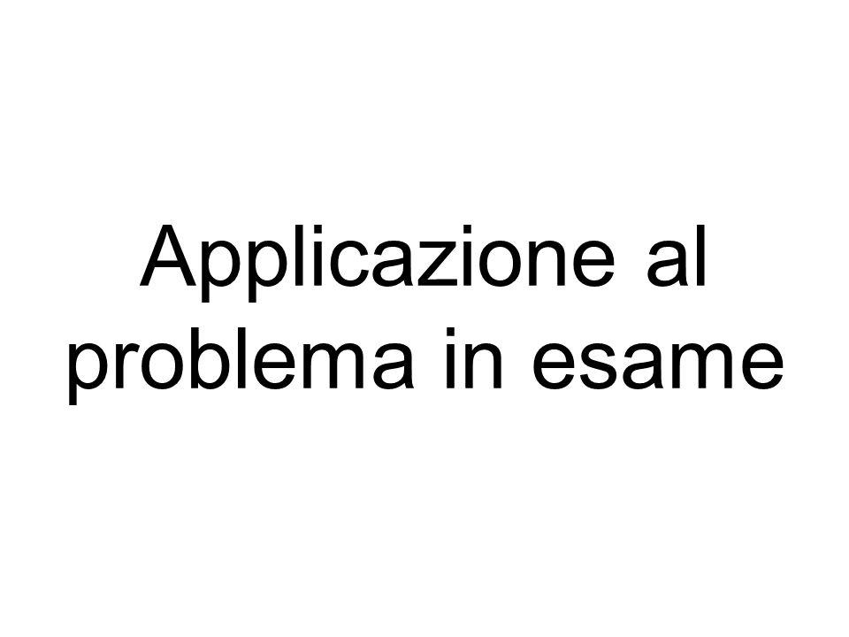Applicazione al problema in esame