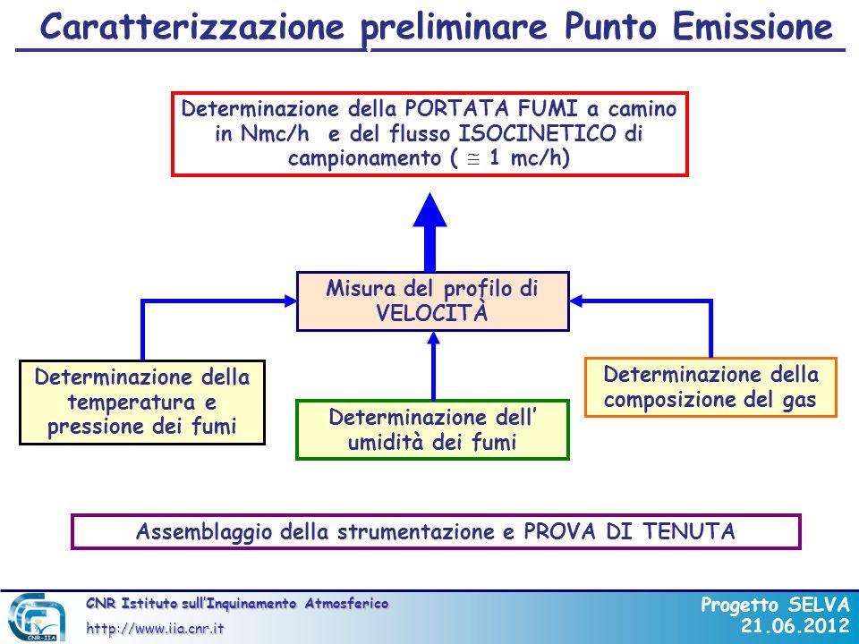 Caratterizzazione preliminare Punto Emissione