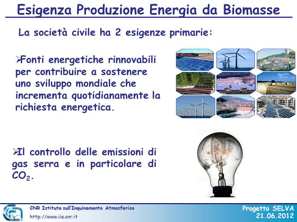 Esigenza Produzione Energia da Biomasse
