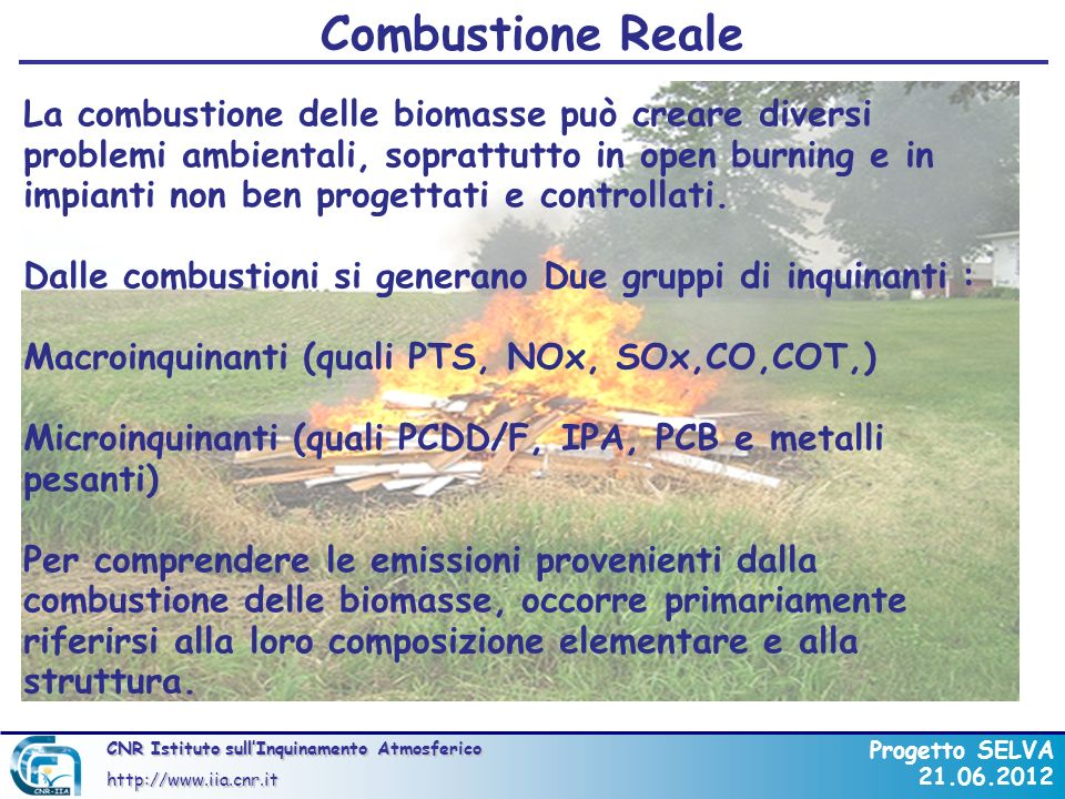 Combustione Reale