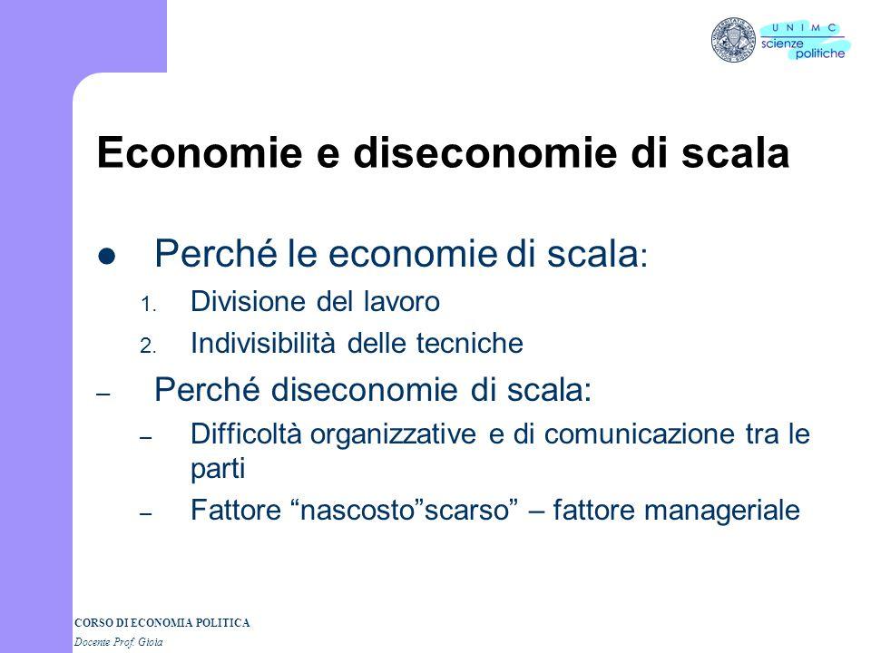 Economie e diseconomie di scala