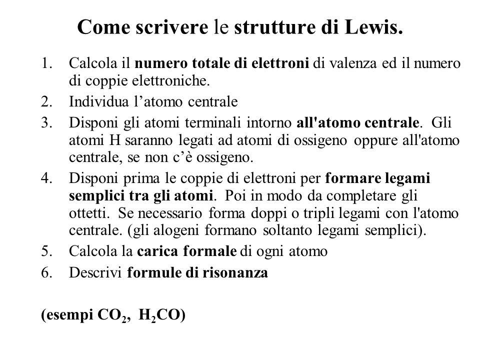 Come scrivere le strutture di Lewis.