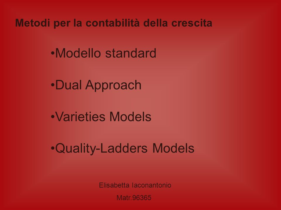 Quality-Ladders Models
