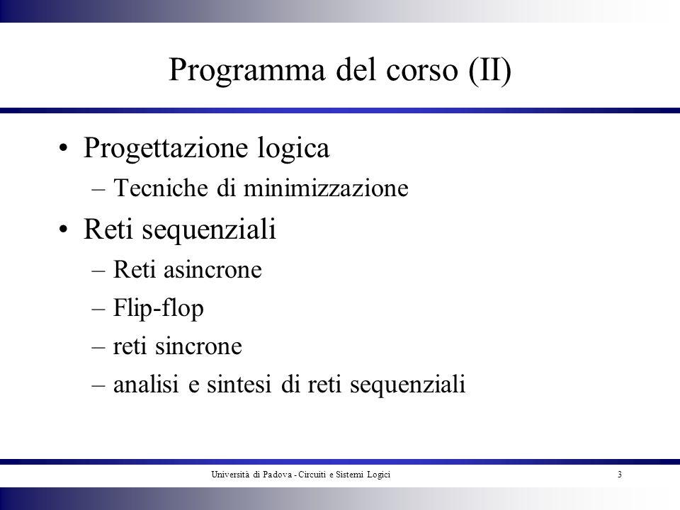 Programma del corso (II)