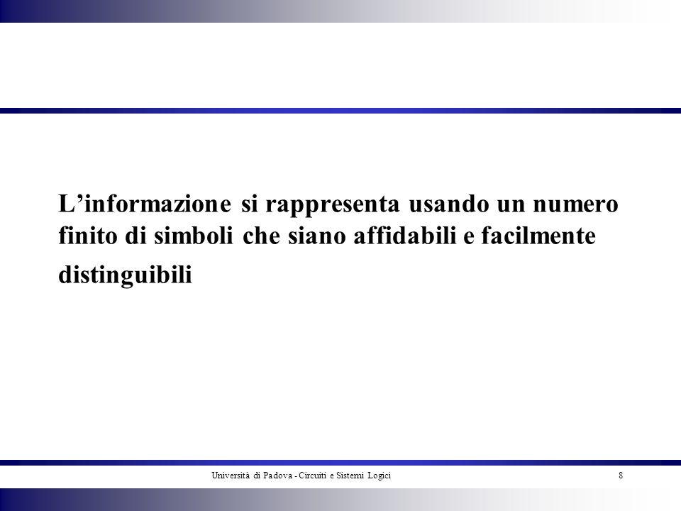Università di Padova - Circuiti e Sistemi Logici
