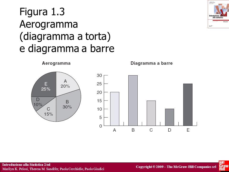 Figura 1.3 Aerogramma (diagramma a torta) e diagramma a barre