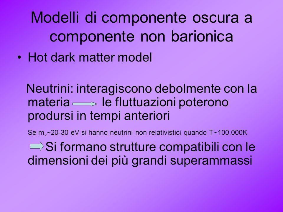 Modelli di componente oscura a componente non barionica
