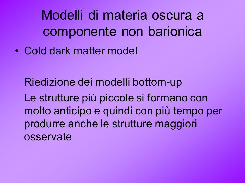 Modelli di materia oscura a componente non barionica