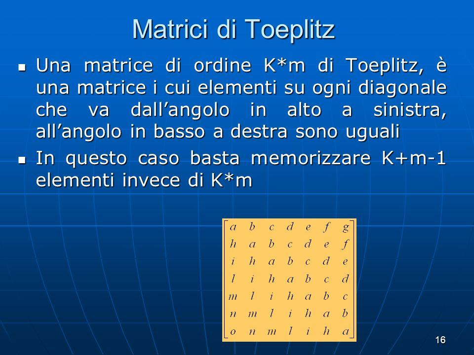 Matrici di Toeplitz