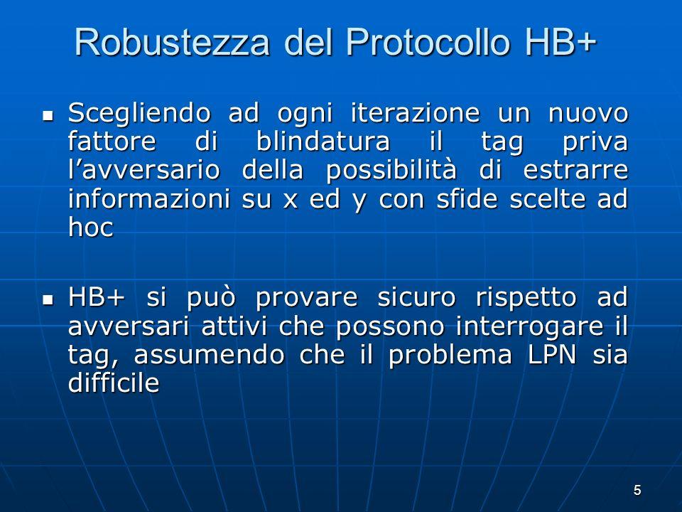 Robustezza del Protocollo HB+