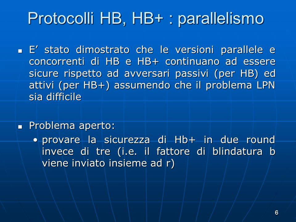 Protocolli HB, HB+ : parallelismo