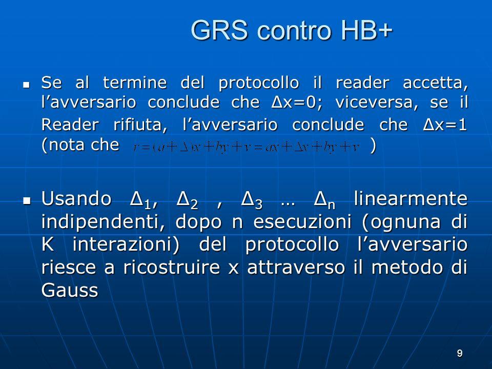 GRS contro HB+