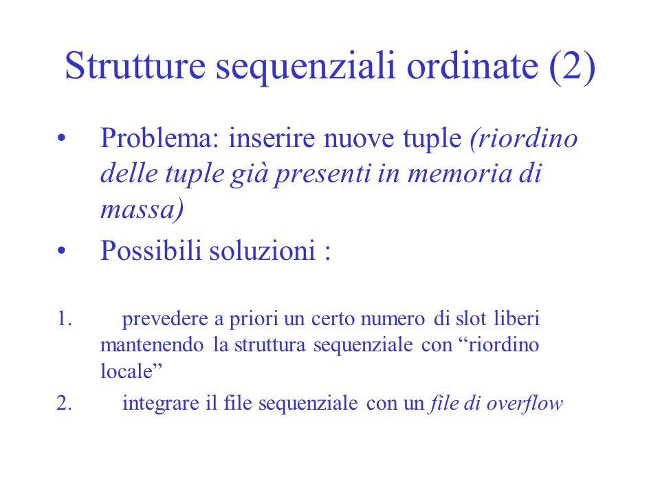 Strutture sequenziali ordinate (2)