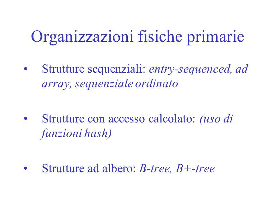 Organizzazioni fisiche primarie