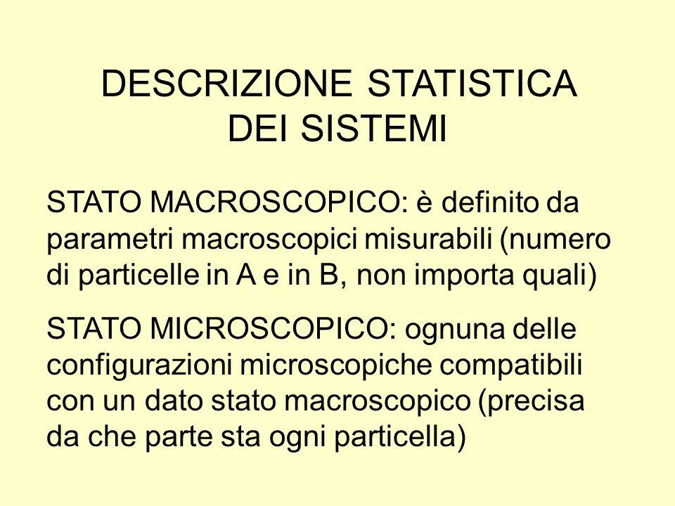 DESCRIZIONE STATISTICA DEI SISTEMI
