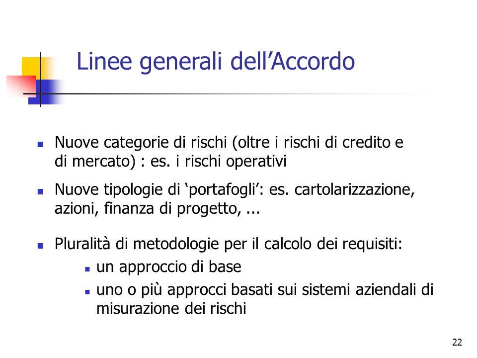 Linee generali dell'Accordo