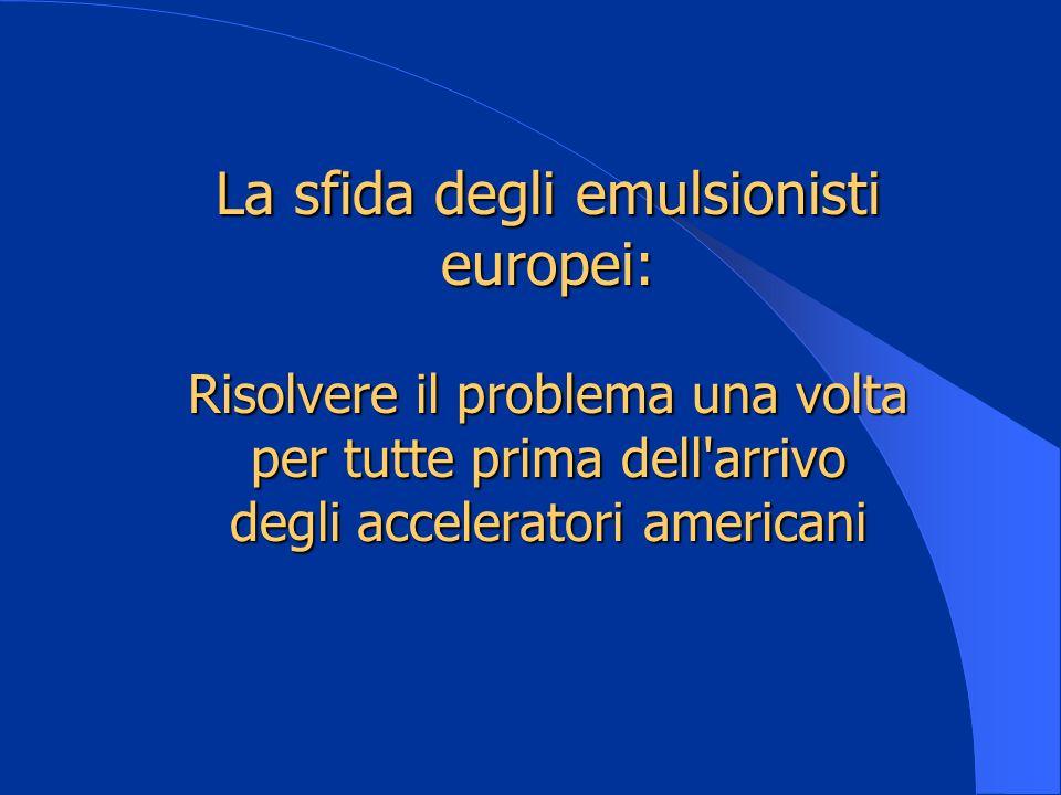 La sfida degli emulsionisti europei: Risolvere il problema una volta per tutte prima dell arrivo degli acceleratori americani