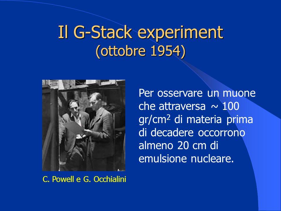 Il G-Stack experiment (ottobre 1954)