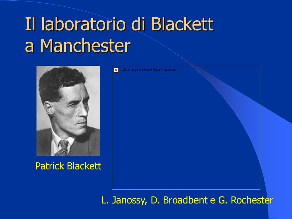 Il laboratorio di Blackett a Manchester