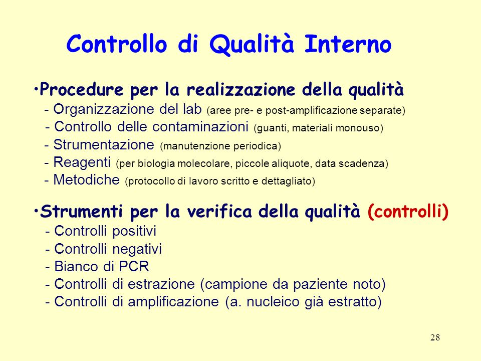 Controllo di Qualità Interno