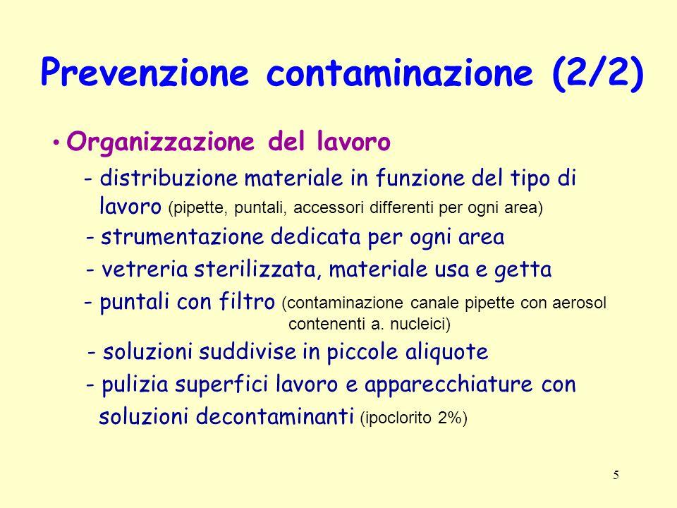 Prevenzione contaminazione (2/2)