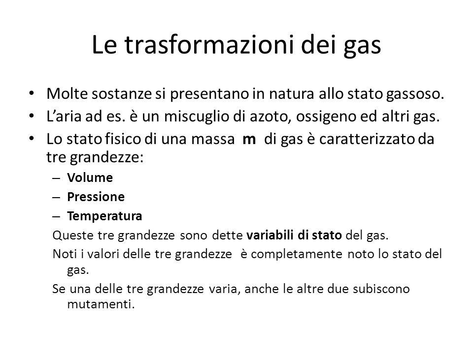 Le trasformazioni dei gas