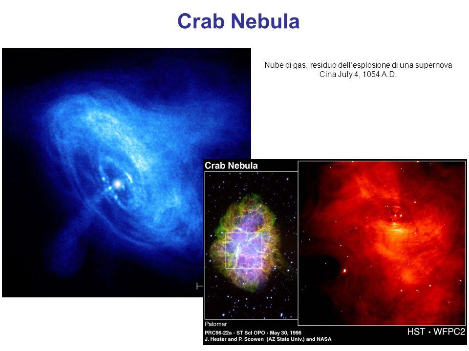 Crab Nebula Nube di gas, residuo dell'esplosione di una supernova Cina July 4, 1054 A.D.