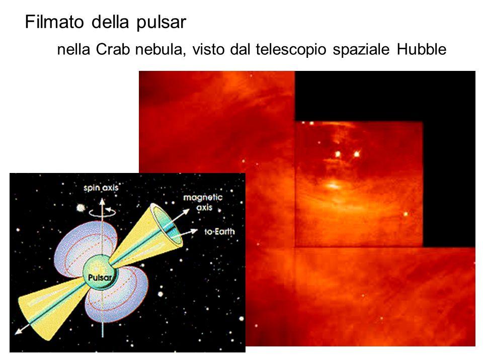 nella Crab nebula, visto dal telescopio spaziale Hubble