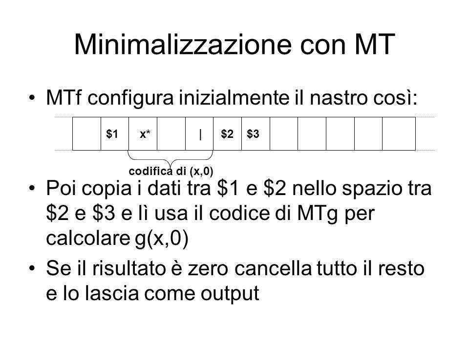 Minimalizzazione con MT