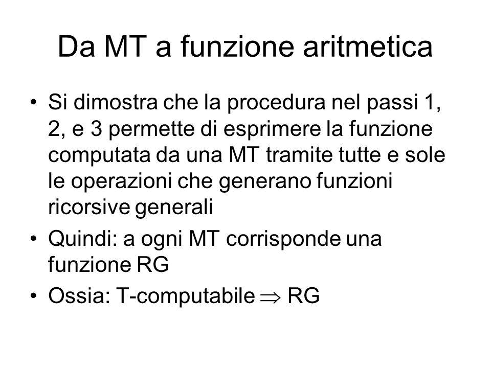 Da MT a funzione aritmetica