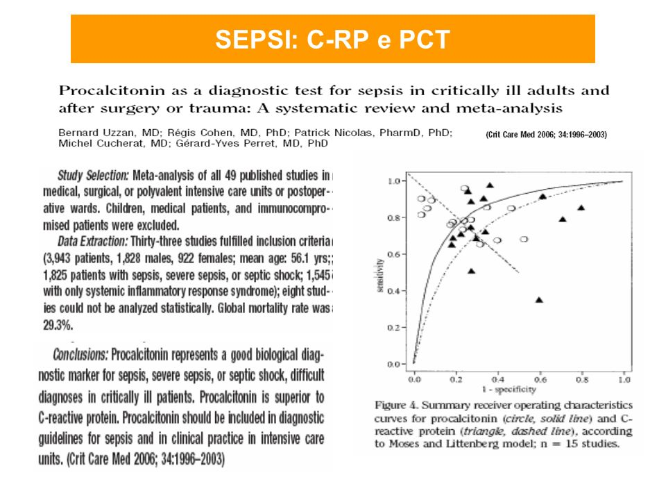 SEPSI: C-RP e PCT