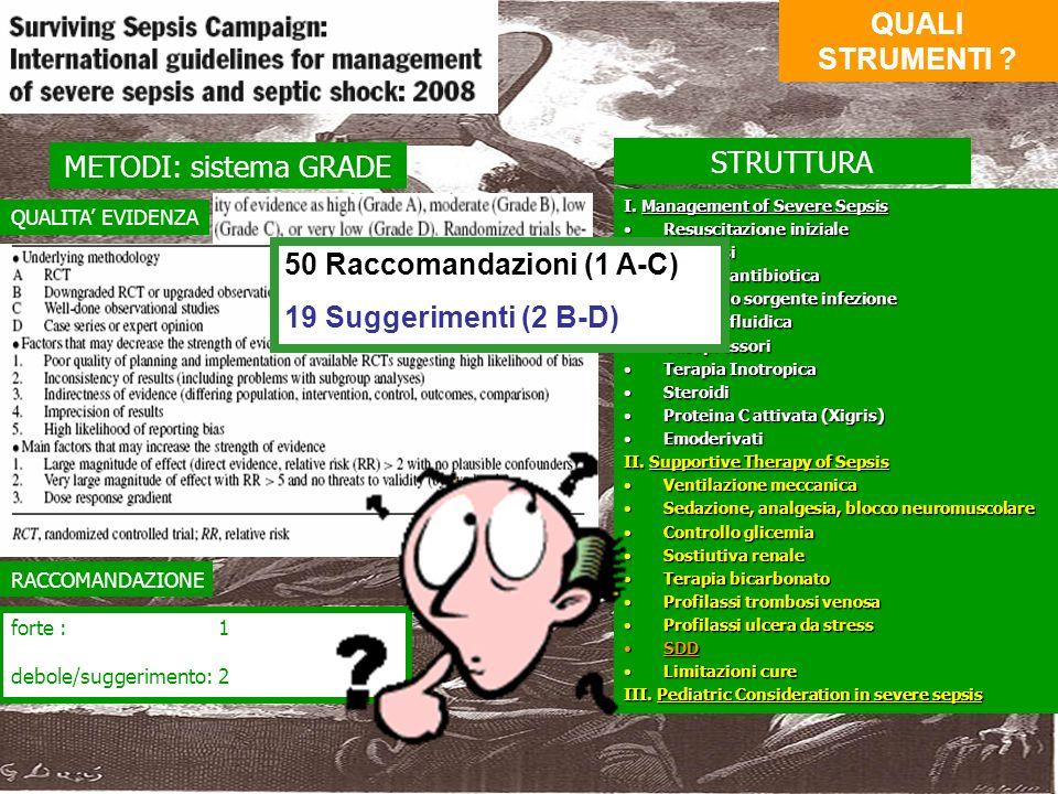 50 Raccomandazioni (1 A-C) 19 Suggerimenti (2 B-D)