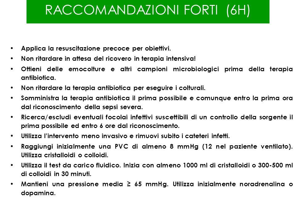 RACCOMANDAZIONI FORTI (6H)