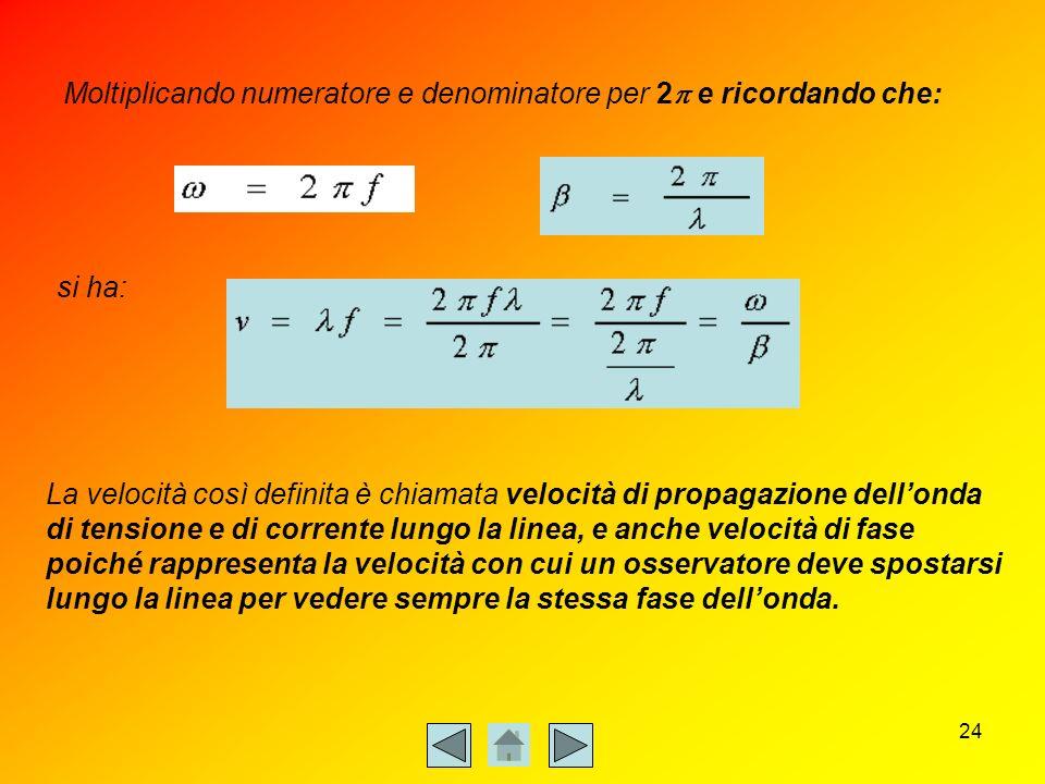 Moltiplicando numeratore e denominatore per 2p e ricordando che: