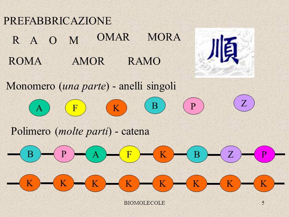 Monomero (una parte) - anelli singoli
