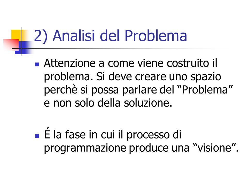 2) Analisi del Problema