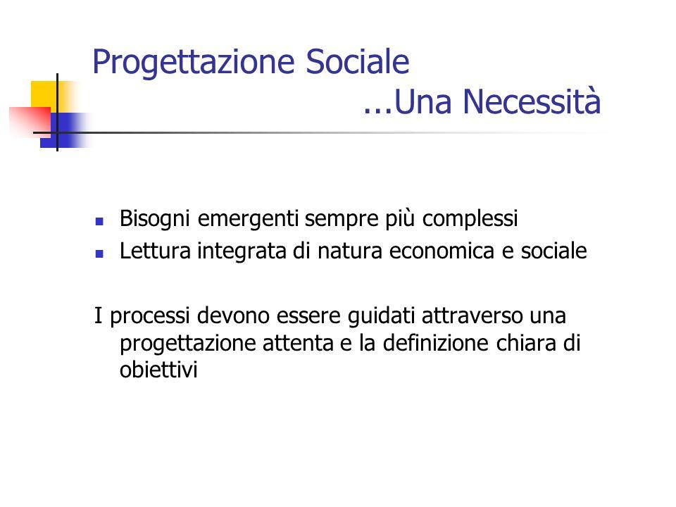 Progettazione Sociale ...Una Necessità