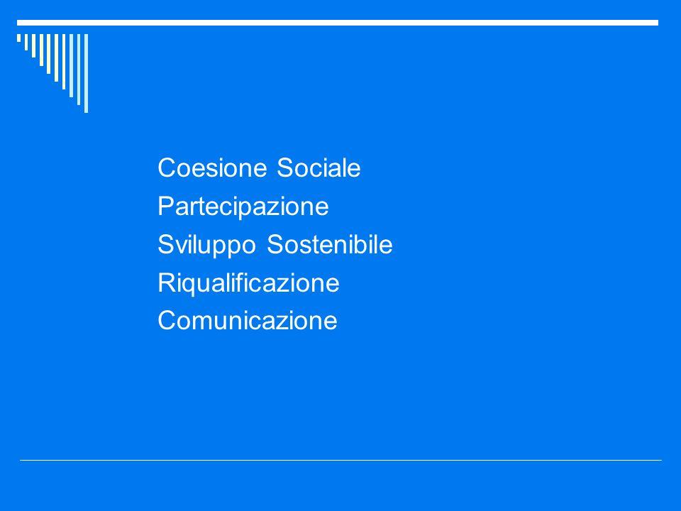 Coesione Sociale Partecipazione Sviluppo Sostenibile Riqualificazione Comunicazione