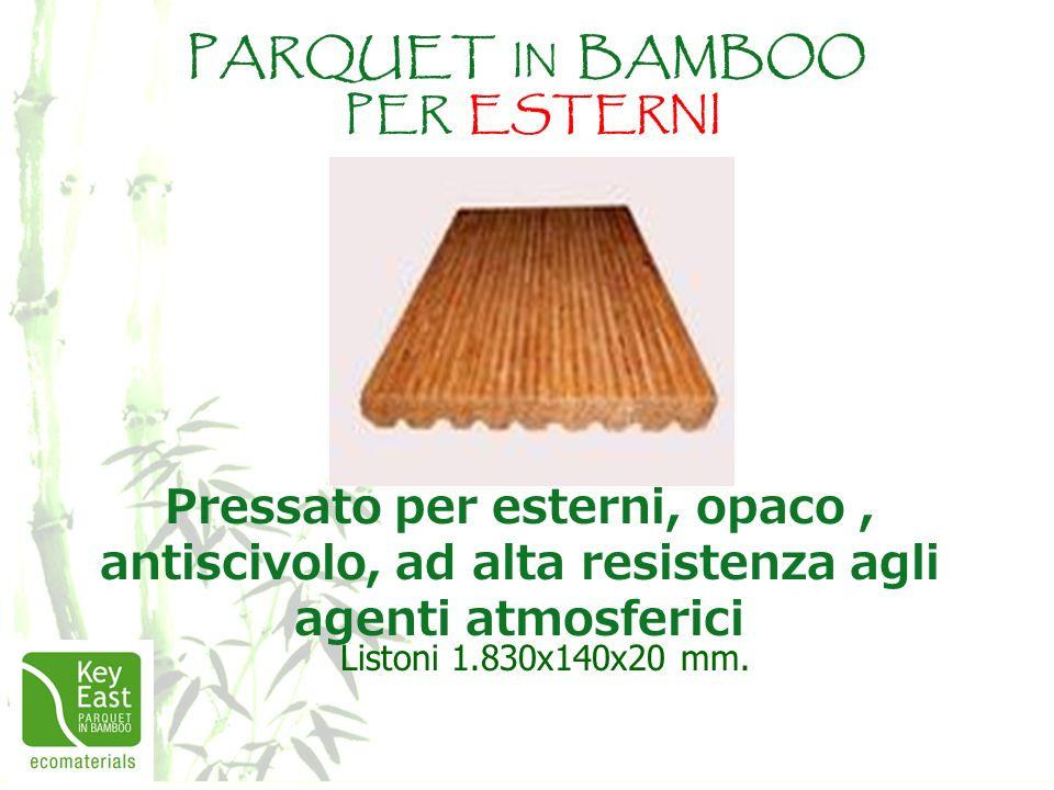 PARQUET IN BAMBOO PER ESTERNI