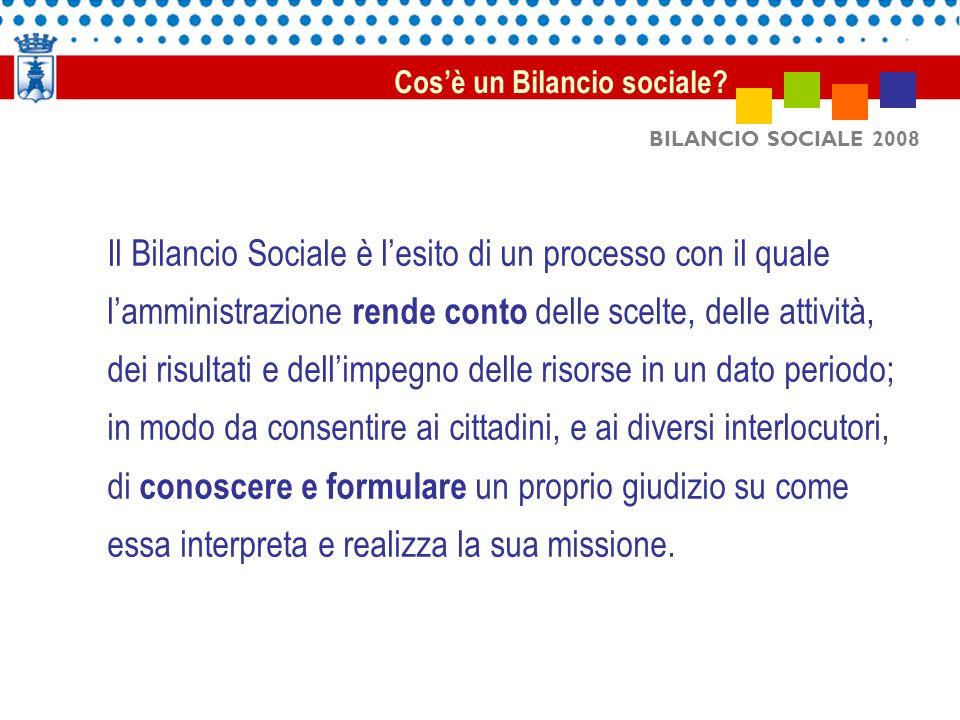 Il Bilancio Sociale è l'esito di un processo con il quale