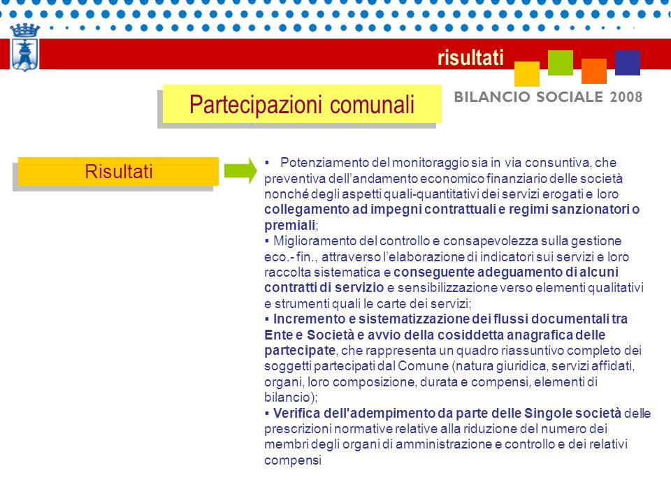 Partecipazioni comunali