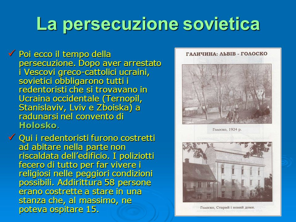 La persecuzione sovietica