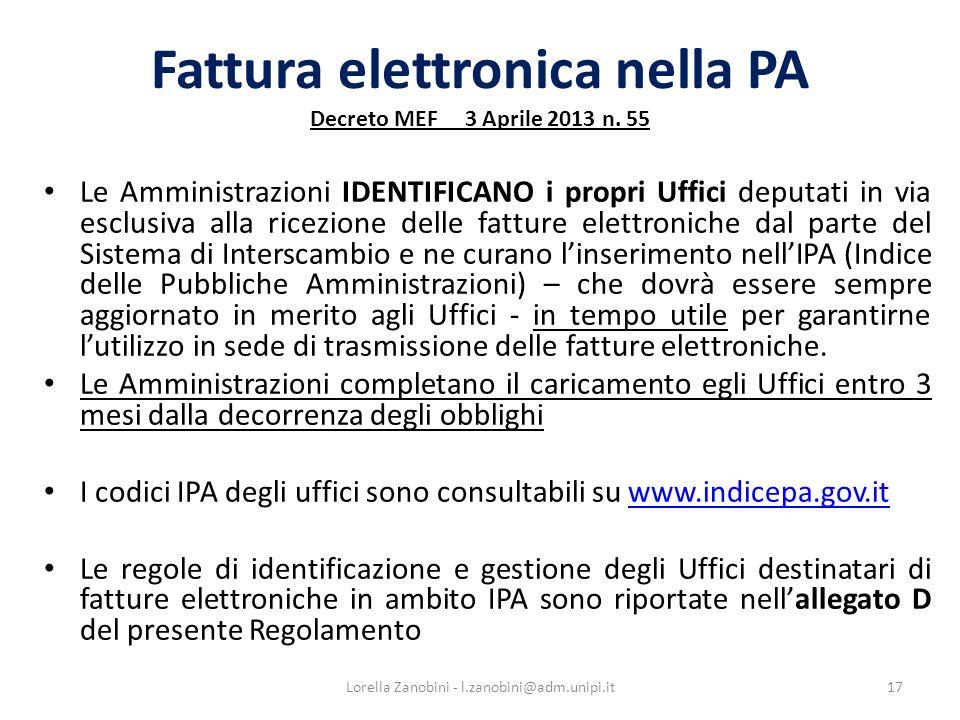 Fattura elettronica nella PA Decreto MEF 3 Aprile 2013 n. 55